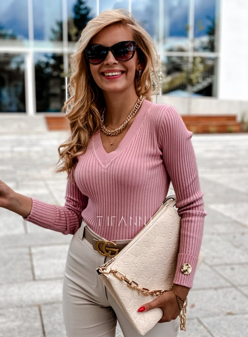 Bluzka Hellen w kolorze pudrowa 5