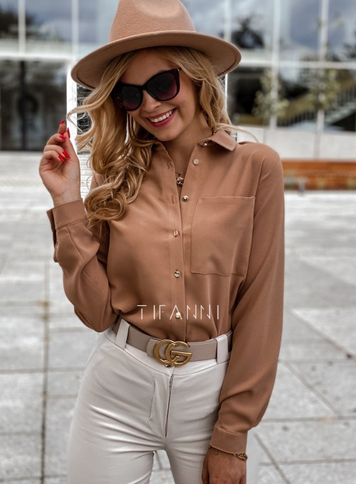 Koszula Pampi karmelowa
