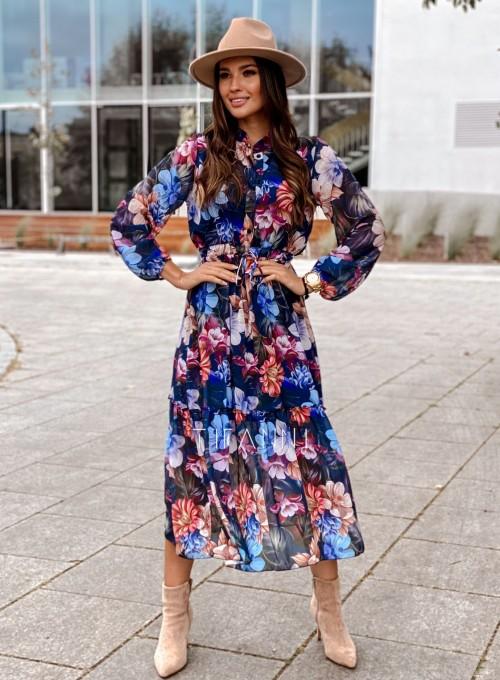 Sukienka midi Doris blue