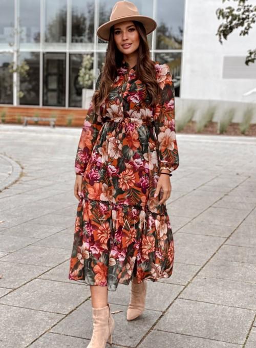 Sukienka midi Doris brown 5