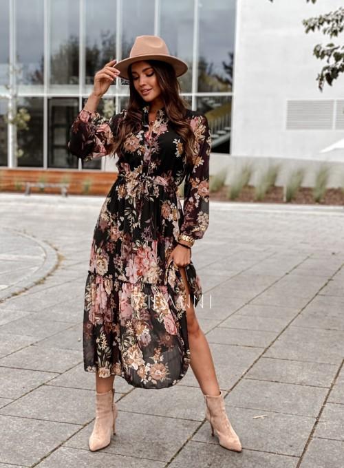 Sukienka midi Doris black