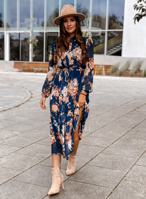 Sukienka midi Doris dark blue 4