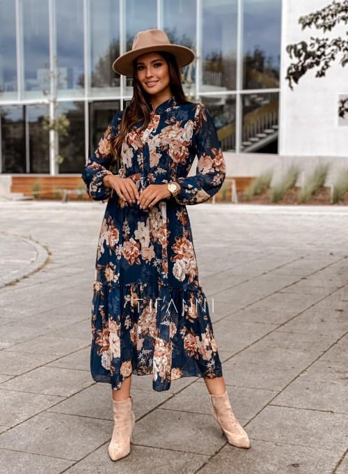Sukienka midi Doris dark blue 6