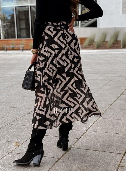 Plisowana spódnica Sali czarna 5