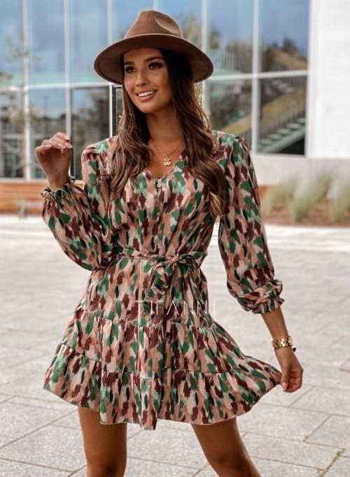 Sukienka Xami z guziczkami na dekolcie 2