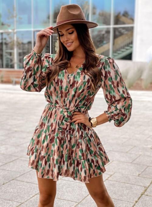 Sukienka Xami z guziczkami na dekolcie 5