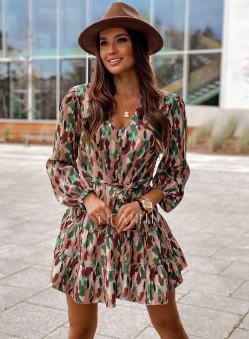 Sukienka Xami z guziczkami na dekolcie 6
