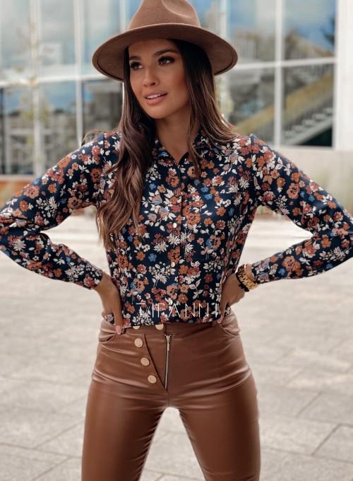 Koszula Pampi z kwiatowym printem 3