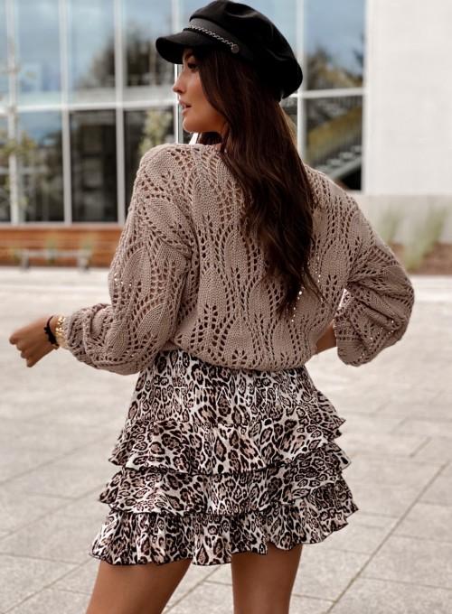 Sweter ażurowy Savi beżowy 4