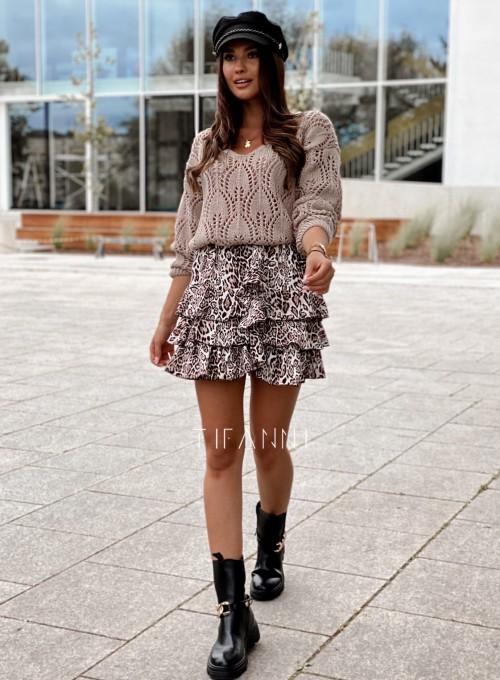Sweter ażurowy Savi beżowy 6