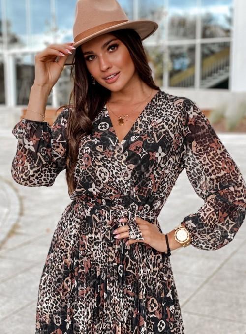 Zwiewna plisowana sukienka Karen panther 1
