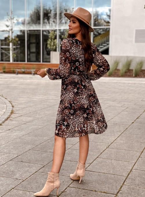 Zwiewna plisowana sukienka Karen panther 2