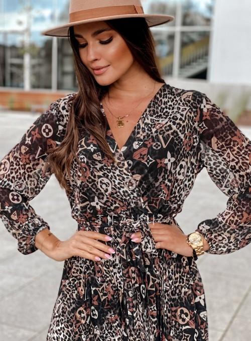 Zwiewna plisowana sukienka Karen panther 3