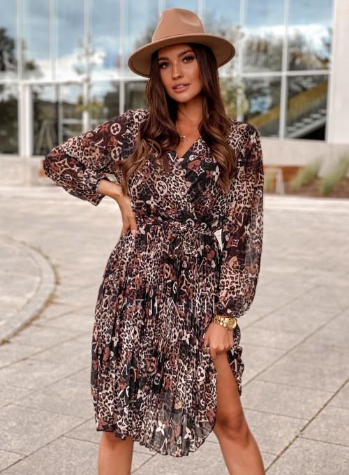 Zwiewna plisowana sukienka Karen panther 4