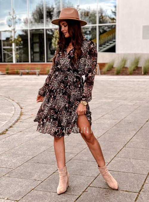 Zwiewna plisowana sukienka Karen panther 5