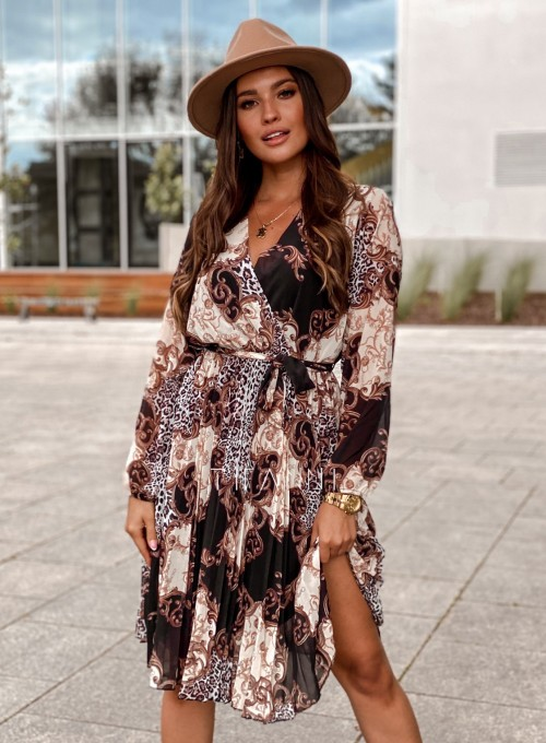 Zwiewna plisowana sukienka Karen 4