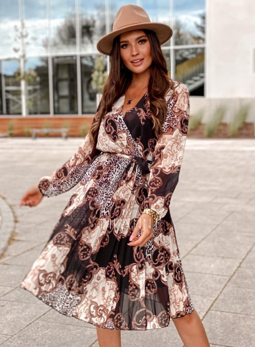 Zwiewna plisowana sukienka Karen 6