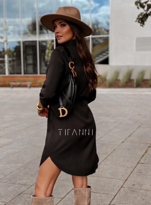 Koszulowa sukienka Paris czarna 2
