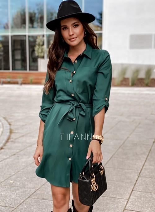 Koszulowa sukienka Paris butelkowa 2