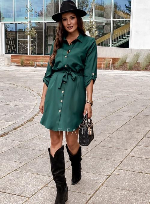 Koszulowa sukienka Paris butelkowa 5