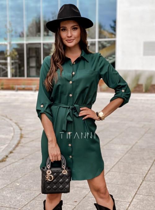 Koszulowa sukienka Paris butelkowa 6