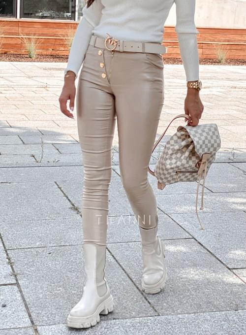 Spodnie woskowane Buttons LIGHT GOLD