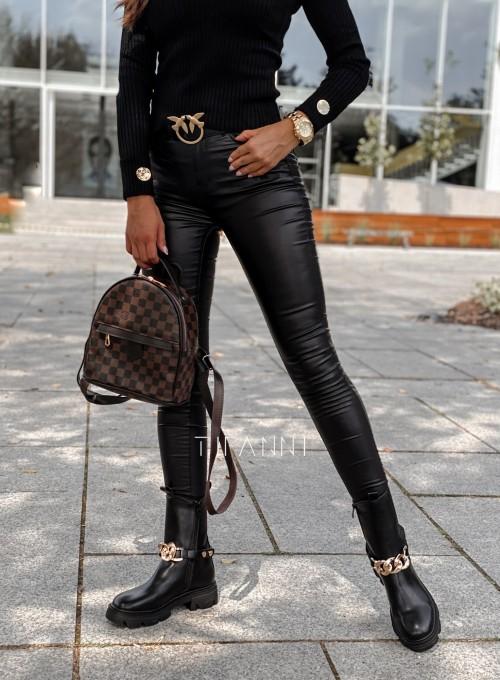 Spodnie woskowane Chico czarne