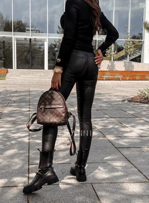Spodnie woskowane Chico czarne 2