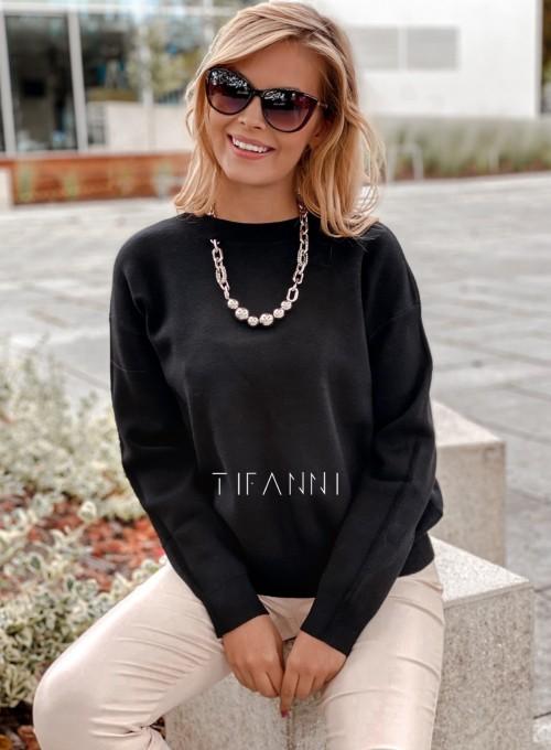 Bluzka sweter z łańcuszkiem Marco czarny