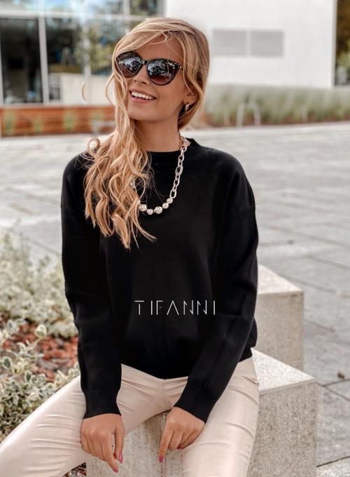 Bluzka sweter z łańcuszkiem Marco czarny 2
