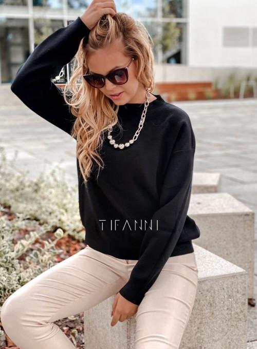 Bluzka sweter z łańcuszkiem Marco czarny 3