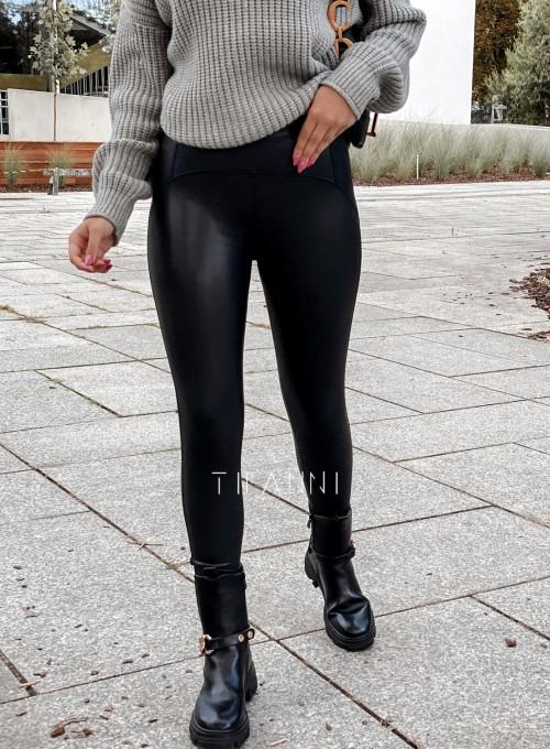 Leginsy skajkowe Toli czarne 2