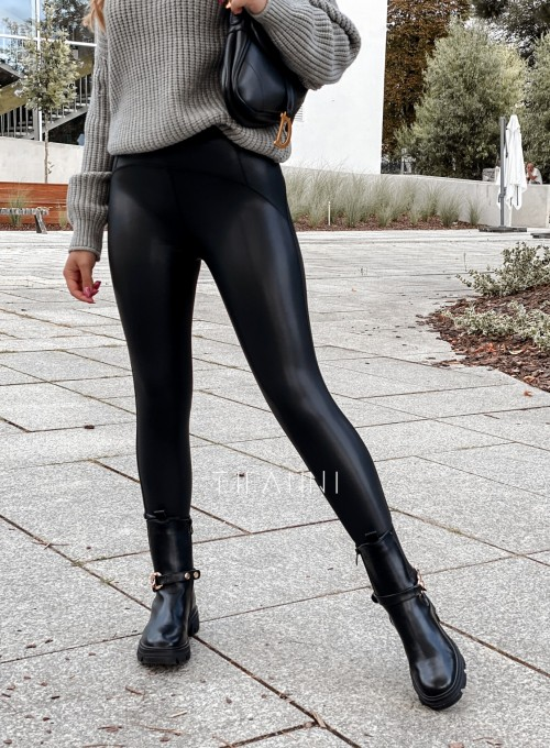 Leginsy skajkowe Toli czarne 3