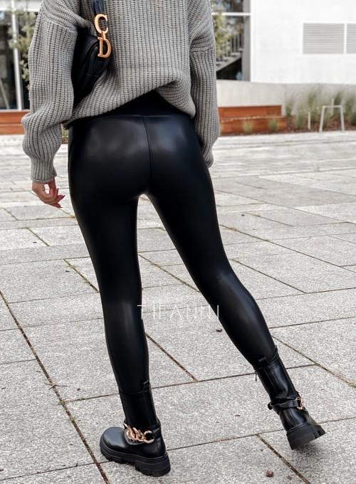 Leginsy skajkowe Toli czarne 1