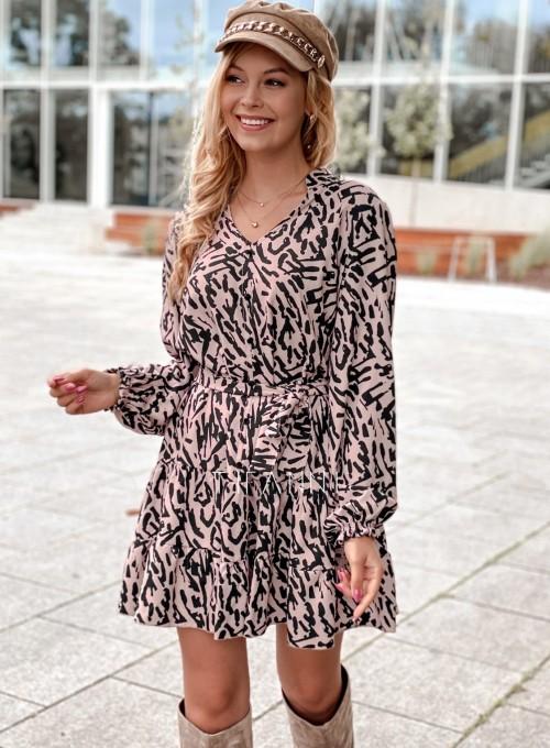 Sukienka Xami z guziczkami na dekolcie II 3