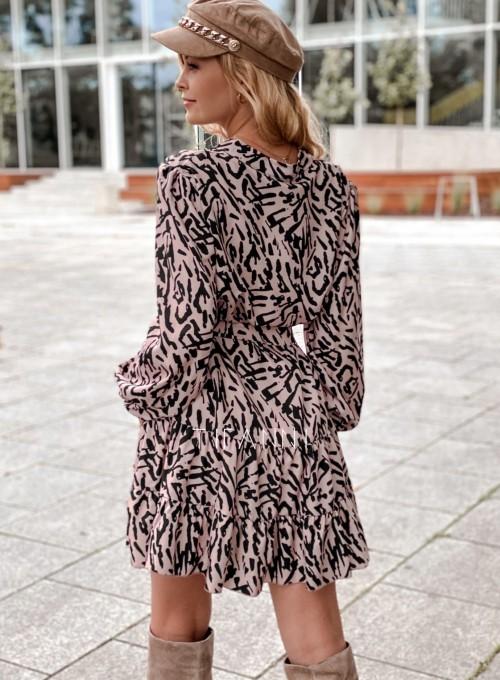Sukienka Xami z guziczkami na dekolcie II 4