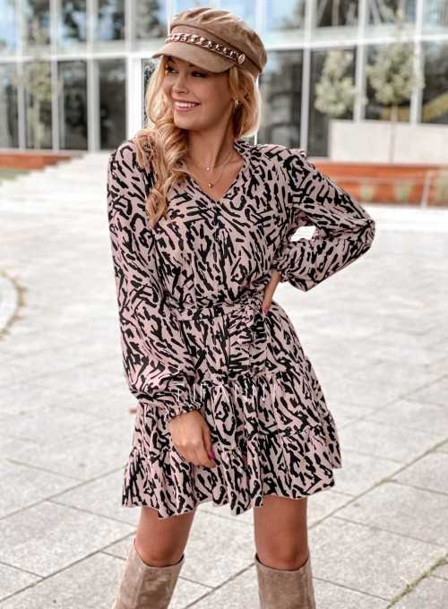Sukienka Xami z guziczkami na dekolcie II 5