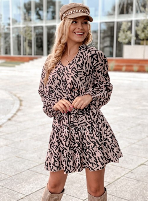 Sukienka Xami z guziczkami na dekolcie II 7