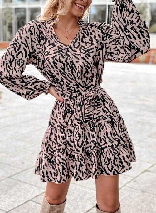 Sukienka Xami z guziczkami na dekolcie II 1