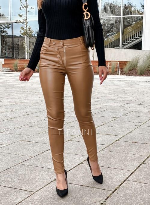 Spodnie woskowane Buttons DARK GOLD 1