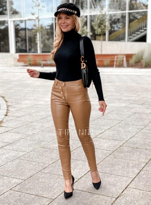 Spodnie woskowane Buttons DARK GOLD 2