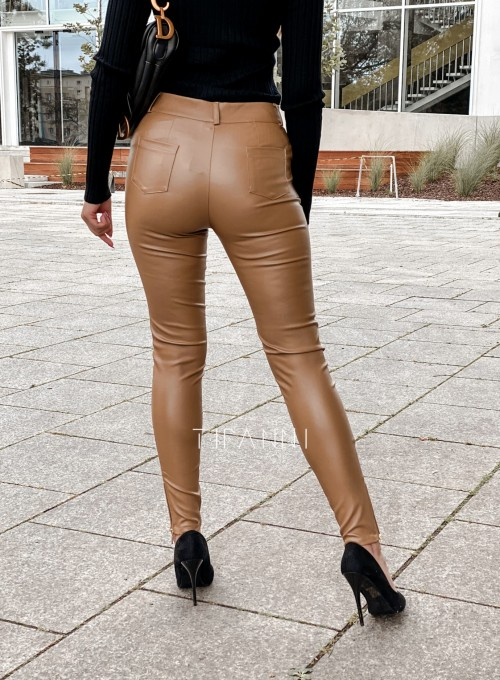 Spodnie woskowane Buttons DARK GOLD 3