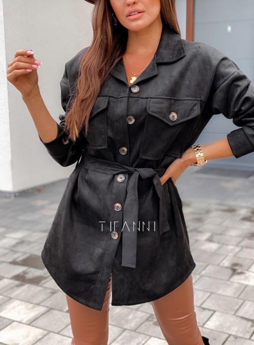 Płaszczyk koszulowy Averil czarny 1
