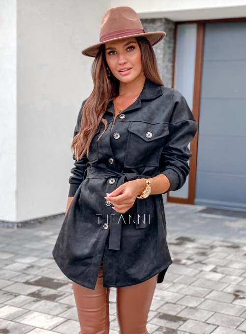 Płaszczyk koszulowy Averil czarny 3