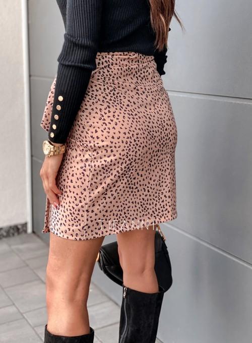 Spódnica wiązana Zalia panther karmel 3