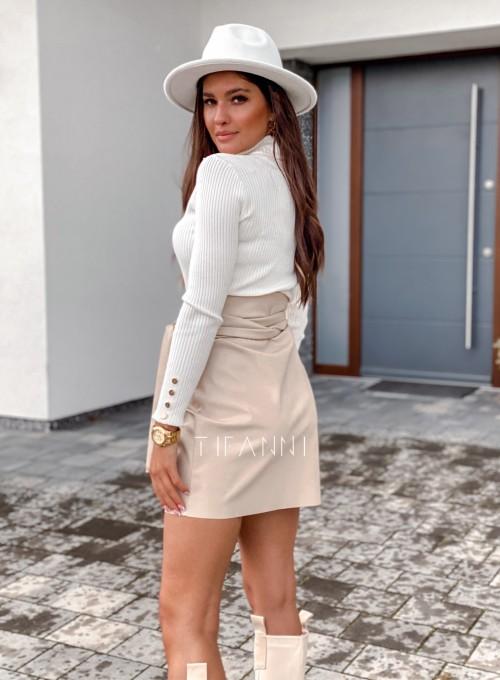 Skajkowa wiązana spódnica Clivi cream 2