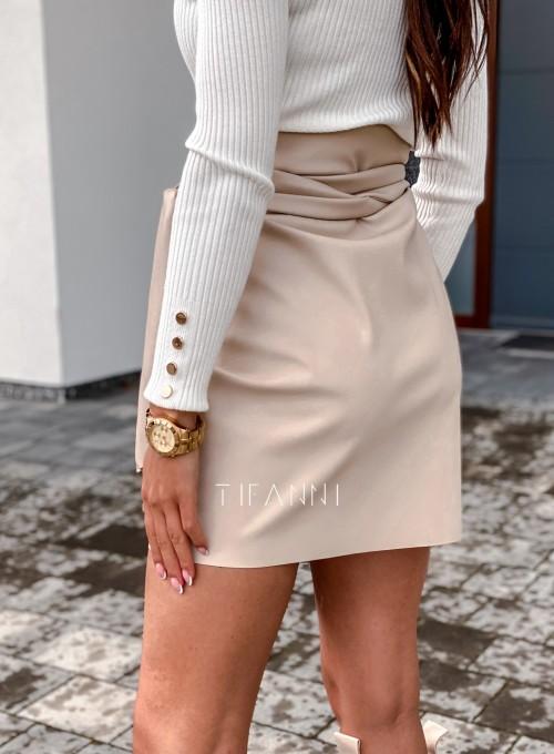 Skajkowa wiązana spódnica Clivi cream 3