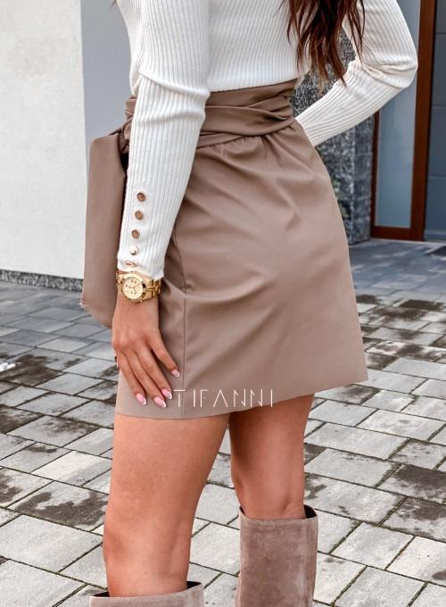 Skajkowa wiązana spódnica Clivi beżowa 3