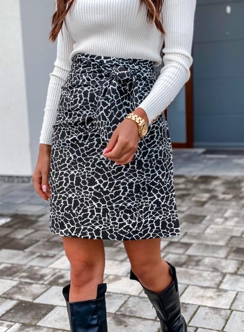 Spódnica wiązana Zalia czarno biała 3