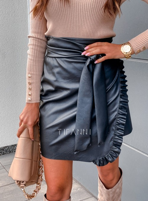 Skajkowa wiązana spódnica Clivi czarna